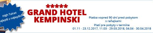 Hotel Kempinski***** High Tatras – Najlepší z najlepších